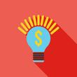 Idea icon. Business concept. Flat Vector illustration.