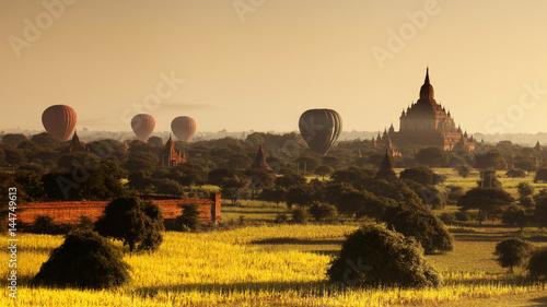 Printed kitchen splashbacks Beige A thousand pagodas in Bagan, Myanmar