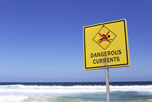 Dangerous Currents Sign