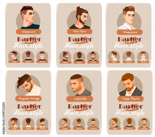 Mens Haircut And Hairstyle Side Part Haircut Pompadour Undercut