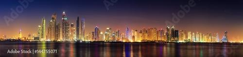 plakat Dubai panorama skyline 7