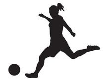 SILHOUETTE FOOTBALL FEMME
