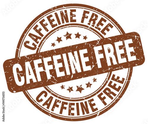 Photo caffeine free brown grunge stamp