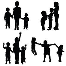 Children Holding Hands Vector ...