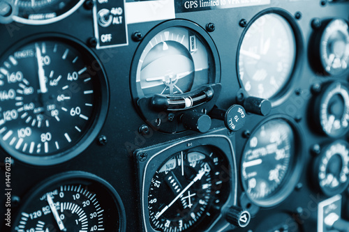 Cockpit helicopter - Instruments panel Wallpaper Mural