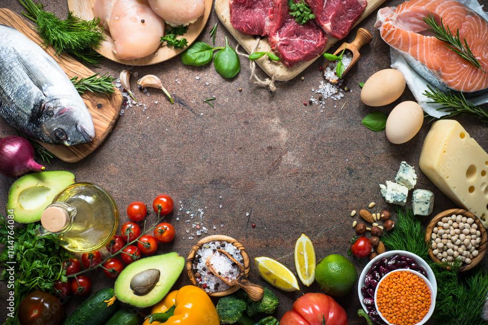 Fotografie, Obraz Balanced diet