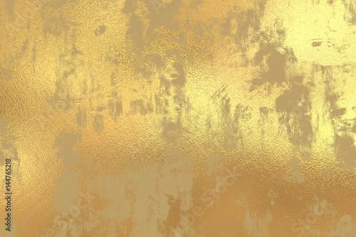 Photo  Gold grunge foil background