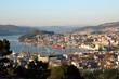 view of Vigo city at sunset