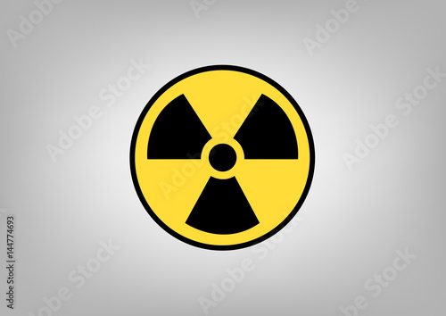 Radiation Sign Symbol Of Danger Vector Image Buy This Stock