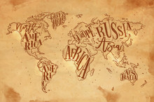 Worldmap Vintage Craft