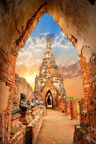 Fotografia  Wat Chaiwatthanaram temple