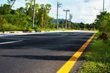 Route Landscape Car Road Marking Line Roadside
