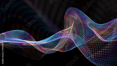 Fotografia  Abstract wave structure scientific background