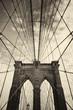 Brooklyn bridge in New York in sepia
