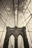 Most Brookliński w Nowym Jorku w sepii - 144793269