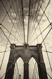 Brooklyn bridge in New York in sepia - 144793269