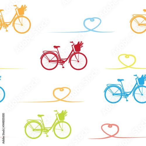 wzor-z-realistyczne-rowerow-wzor-z-romantyczny-rower-w-reb-zolty-niebieski-i-zielony-rower-dla-sniadanie-wzoru-na-bialym-tle