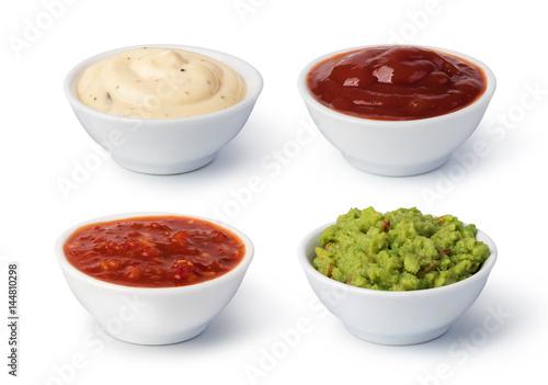 Fotografie, Obraz  Bowls with sauces