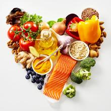 Heart-shaped Still Life Of Healthy Food