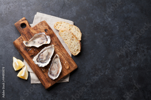 Poster Coquillage Oysters and lemon