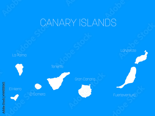Map Of Spain Lanzarote.Map Of Canary Islands Spain With Labels Of Each Island El Hierro
