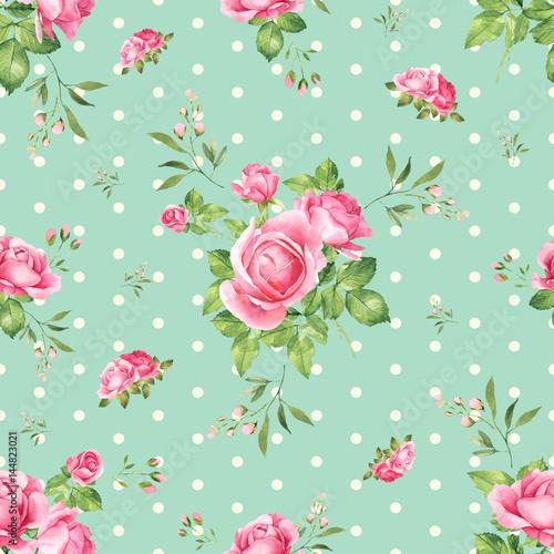 rozowe-roze-bukiet-akwarela-bezszwowe-wzor