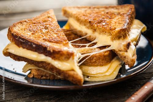 Staande foto Snack Grilled cheese sandwich