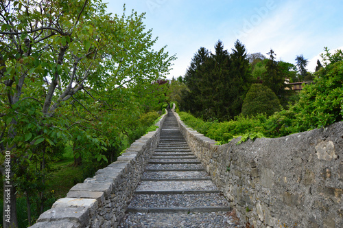 Flight of steps, many stairs, success concept, hard work conquer Wallpaper Mural