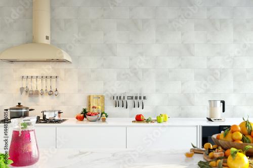 Zdjęcie XXL makiety do wnętrza ściany. Skandynawski styl. Wall art. 3d rendering, 3d ilustracja