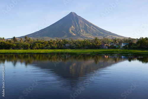 Mayon volcano at early morning,Philippines
