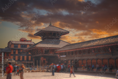 Photo Stands Durbar Square in Bhaktapur
