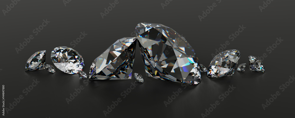 Fototapeta Diamonds in a row