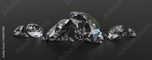 Diamonds in a row