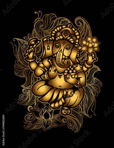 Canvastavla Gold Ganesha 24