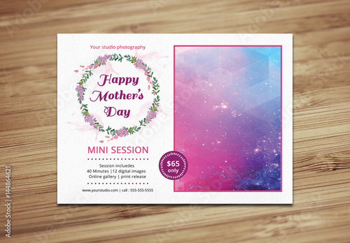 Mothers Day Photography Package Flyer Template 1 Buy This Stock