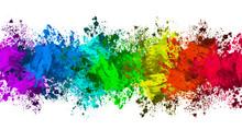 Multi-Color Paint Splatter Bor...