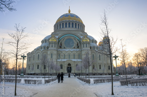 Photo sur Toile Art Studio Naval cathedral in Kronshtadt