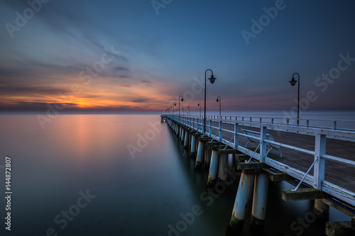 Fototapety, obrazy: Piękny wschód słońca na plaży. Gdynia Orłowo. Polska
