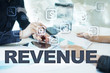 revenue on virtual screen. Business, technology and internet concept.