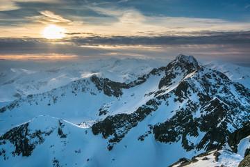 Fototapeta Inspiracje na zimę Tatry,widok z Koziego Wierchu