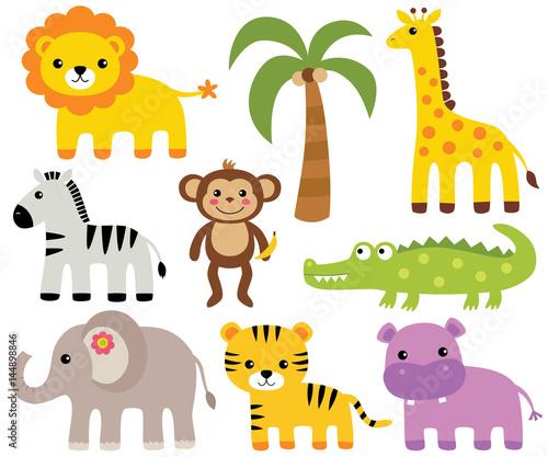 African animals set  © lattesmile
