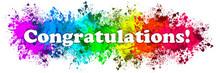 Paint Splatter Words - Congratulations