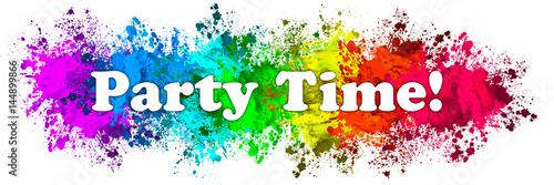 Obraz Paint Splatter Words - Party Time - fototapety do salonu