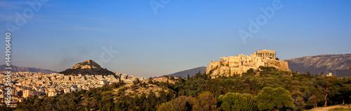 Zdjęcie XXL Ateny, Grecja - panoramiczny widok na Akropol i Lycabettus