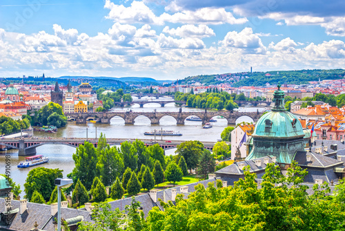 Photo  Bridges of Prague and the River Vltava  Czech Republic