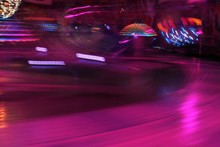 Disco Lights Synthwave Funfair Fairground Background Night Colors Of The Amusement Park