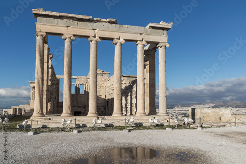 Staande foto Athene Ancient Greek temple The Erechtheion on the north side of the Acropolis of Athens, Attica, Greece