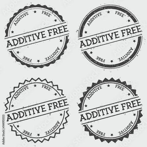 Fotografia  Additive free insignia stamp isolated on white background