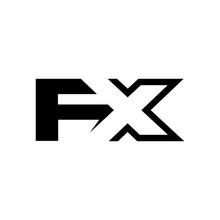 Letter F And X Logo Vector.