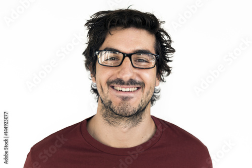 Fototapety, obrazy: Man Cheerful Smiling Portrait Concept